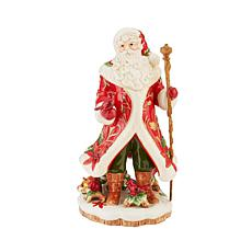 Fitz and Floyd Cardinal Christmas Santa Figurine
