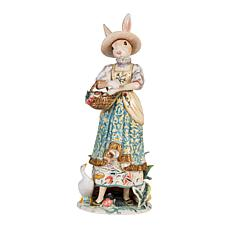 Fitz and Floyd Dapper Rabbits Female Figurine