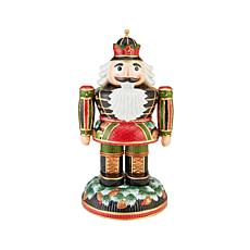 Fitz and Floyd Holiday Nutcracker Pine Cone Nutcracker Figurine