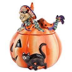 Fitz and Floyd Witch Hazel Cookie Jar