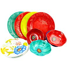 Flora 12-piece Mix & Match Melamine Dinnerware Set