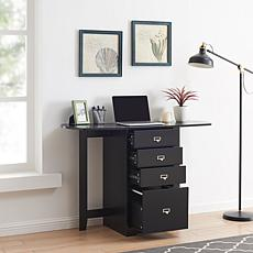 Fold-Out Organizer And Craft Desk - Black