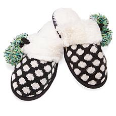Foot Petals Fair Isle Knit Pom Pom Slipper
