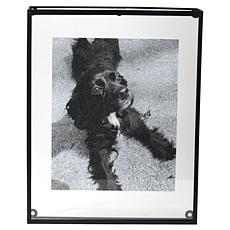 """Foreside Home & Garden 5x7"""" Oversized Black Metal Picture Frame"""