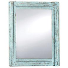 Foreside Home & Garden Rectangle Distressed Wood Frame Mirror