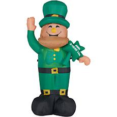 Fraser Hill Farm 10' Inflatable Lucky Leprechaun w/ Lights Storage Bag