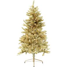 Fraser Hill Farm 7' Festive Tinsel Christmas Tree - Gold