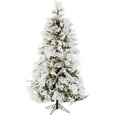 Fraser Hill Farms 9' Flocked Snowy Pine Tree - Smart Lights