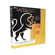 "Fredrix Goldtone Metallic Stretched Canvas  -12"" x 12"""