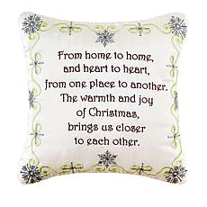 From Home to Home Embroidered Pillow