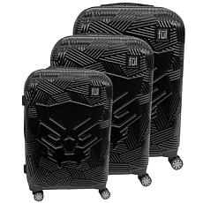 FUL Marvel Black Panther Icon Molded Hard-Sided 3-piece Luggage Set