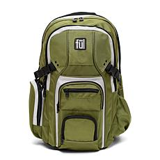 "FUL TMan Laptop Backpack with 17"" Laptop Pocket - Olive"