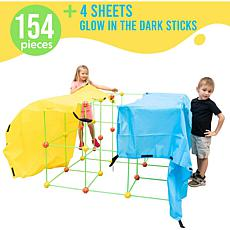 Funphix 154-Pc Fort Set with 4 Sheets & Bag