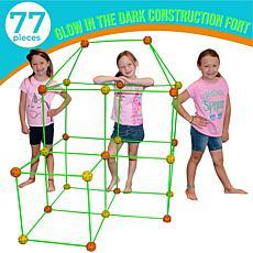 Funphix 77-Pc Fort Building Kit with Glow in the Dark Sticks - Orange