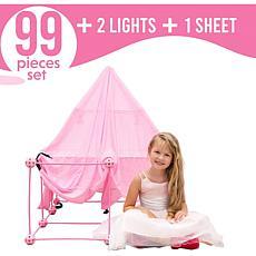 Funphix 99-Pc Princess Set with Sheet, Lights & Bag