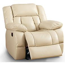 Furniture of America Barbara Leatherette Glider Recliner - Ivory