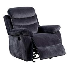 Furniture of America Jasper Fabric Recliner - Gray