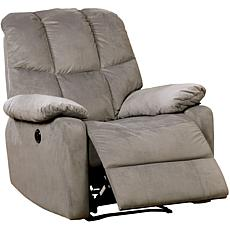 Furniture of America Nadeen Flannelette Power-Assist Recliner