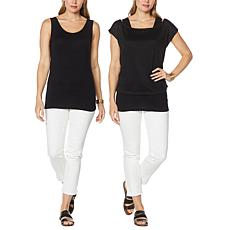 G by Giuliana 2-pack Layering Tank and Tee