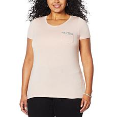 G by Giuliana Beaded Pocket Tee