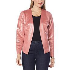 G by Giuliana Croco-Textured Ultrasuede Jacket