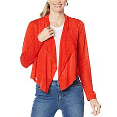 G by Giuliana Cropped Cascade Cardigan