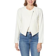 G by Giuliana Diagonal Zip Front Jacket