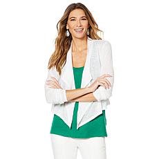 G by Giuliana Drape-Front Cardigan