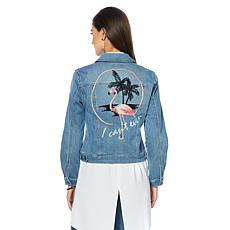 G by Giuliana Embroidered Denim Jacket