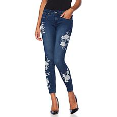 G by Giuliana Embroidered Lace Detail Skinny Jean