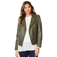 G by Giuliana Genuine Leather Moto Jacket