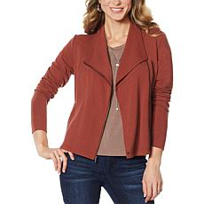 G by Giuliana Jet Set G French Terry Moto Jacket