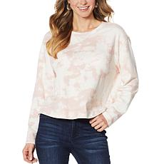 G by Giuliana Jet Set G Printed French Terry Sweatshirt