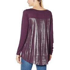 G by Giuliana Long-Sleeve Pleat Back Top