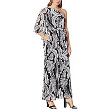 G by Giuliana One-Shoulder Drama Jumpsuit