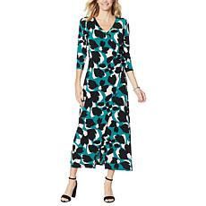 G by Giuliana Ruched Wrap Style Maxi Dress