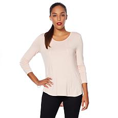 G by Giuliana Shirttail Hem Long-Sleeve Top