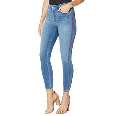G by Giuliana Skinny Ankle Twill Jean with Piping