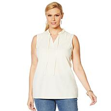G by Giuliana Sleeveless Knit Crepe Top