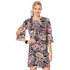 G by Giuliana Slit Sleeve Printed Dress
