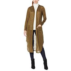 G by Giuliana Solid Slub Knit Duster Cardigan