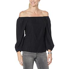 G by Giuliana Square-Neck On/Off-Shoulder Blouse