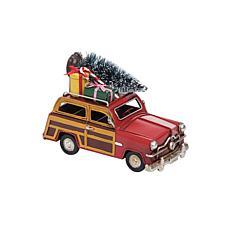 Gallerie II Christmas Woodie Car Figurine