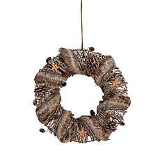 Gallerie II Large Fur Trim Wreath