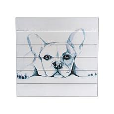 """Gallery 57 Cute Pup Sketch 20"""" x 20"""" Print on Wood"""
