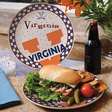 Gameday Ceramic Plate - Virginia
