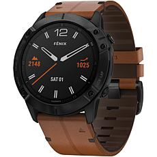 Garmin Fenix 6X Sapphire GPS Watch in Black