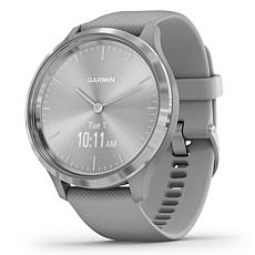 Garmin Vivomove 3 Hybrid Smartwatch in Silver and Powder Gray