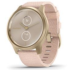 Garmin Vivomove Style Hybrid Smartwatch in Light Gold and Blush Pink