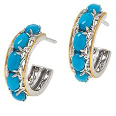 Gems by Michael Gemstone Hoop Earrings